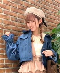 【OUTLET】バックデザインデニムジャケット