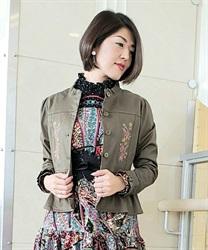ツイル刺繍ブルゾン