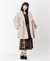 【OUTLET】ボアロングコクーンコート