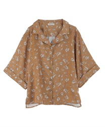 【OUTLET】【Web限定】小花柄開襟ブラウス