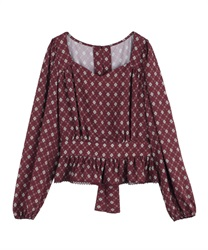 【OUTLET】【Web価格】ヴィンテージ柄ブラウス