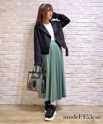 【web価格/15H限定】フェイクレザープリーツスカート