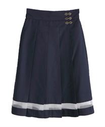 デザインホックプリーツスカート(紺-M)