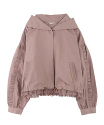 【OUTLET】【Web限定】フリルレースブルゾン(淡ピンク-M)