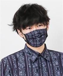 【均一価格/WEB限定】更紗ストライプ柄マスク