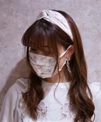 【均一価格/WEB限定】オーロラフラワーマスク(生成り-M)