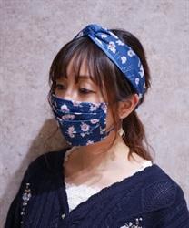 【均一価格/WEB限定】オーロラフラワーマスク(ブルー-M)