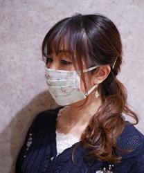 【均一価格/WEB限定】オーロラフラワーマスク(グリーン-M)
