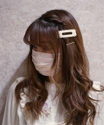 レースマスク(淡ピンク-M)