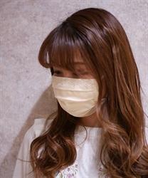 【2点10%OFF対象】ビーズローズプレミアムマスク(生成り-M)
