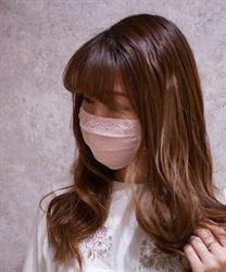 【2点10%OFF対象】ビーズローズプレミアムマスク(淡ピンク-M)