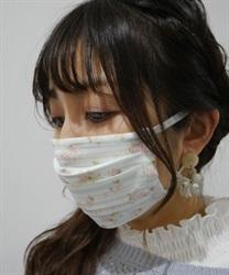 【2点10%OFF対象】ローズ×ボーダーマスク(グリーン-M)
