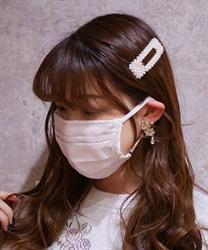 【2点10%OFF対象】オーガンジープレミアムマスク(淡ピンク-M)