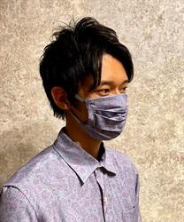 ペイズリー柄男女兼用マスク