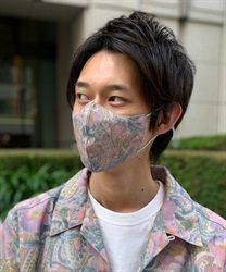 ペイズリー柄立体冷感マスク