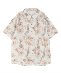 【OUTLET】フラワー柄ハワイアンシャツ