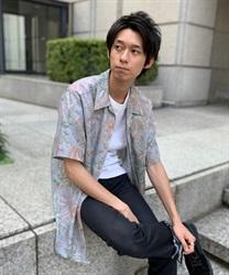 【10%OFF対象】ペイズリーハワイアンシャツ