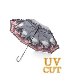 【GWフェア/10%OFF対象】キャットフレンド晴雨兼用傘(淡ピンク-M)