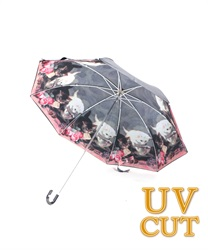 キャットフレンド晴雨兼用折傘(淡ピンク-M)