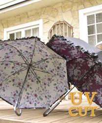 オリジナルローズ柄晴雨兼用傘