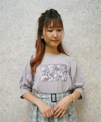 おかしなお茶会パフ袖Tシャツ