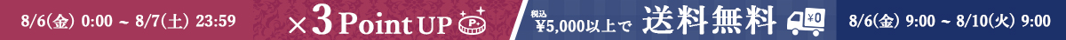8/6  ポイント3倍&送料無料